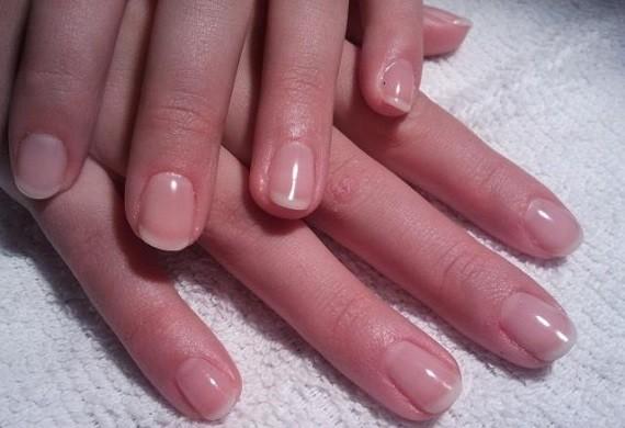 Soak off gellak: french manicure