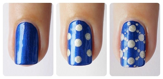 Nail Art Jeans Dots 2 - Blog Nagelfabriek