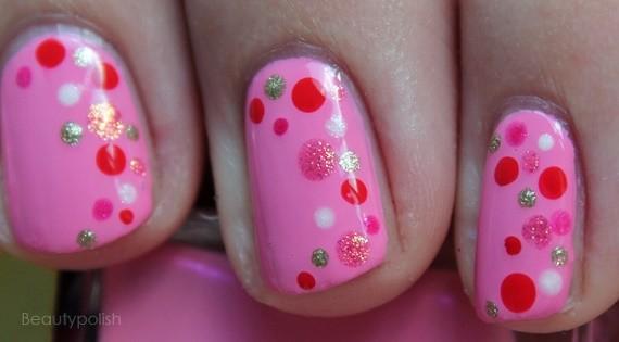 Nail Art Pink Dots - Blog Nagelfabriek