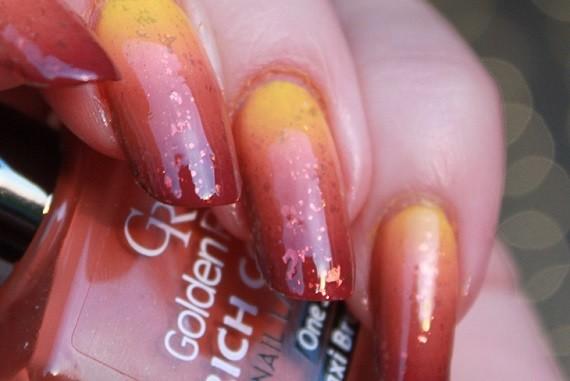 Nail Art Autumn Leaf 05 - Nagelfabriek Blog