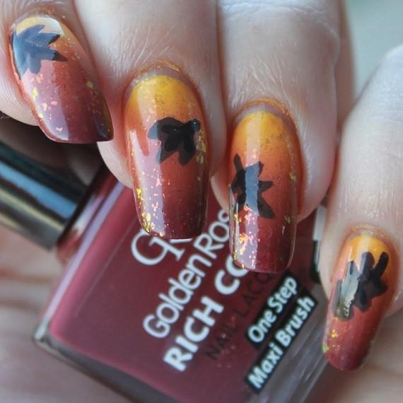 Nail Art Autumn Leaf 07 - Nagelfabriek Blog