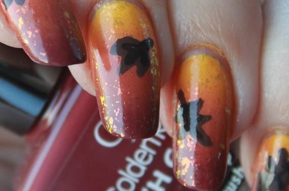 Nail Art Autumn Leaf 08 - Nagelfabriek Blog