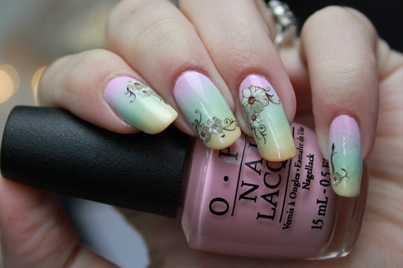 Nail Art Gradient en Water Decals Linvant - Nagelfabriek Blog