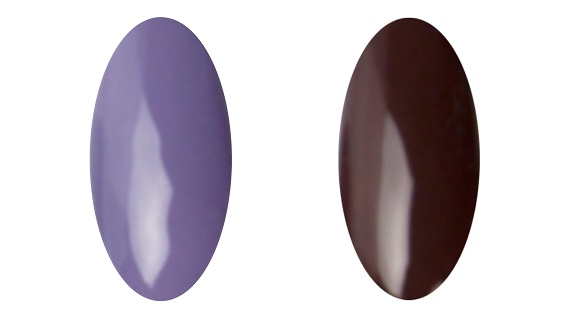 Gellak Lavender en Dark Brown - Nagelfabriek Blog